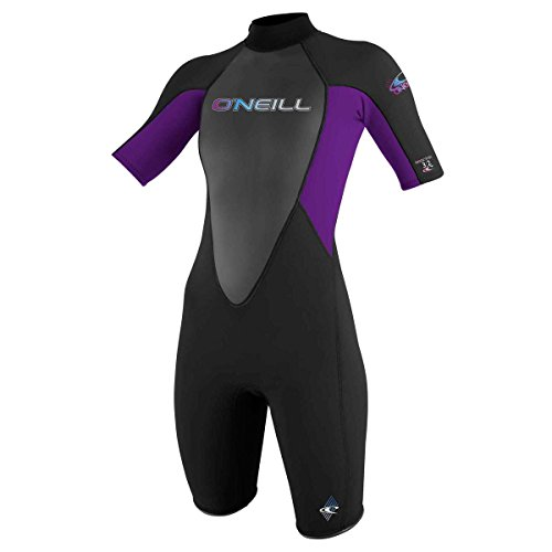 O'Neill 2017 Dames Reactor 2mm Terug Zip Lente Shorty ZWART/UV 3801