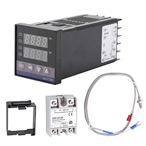 Controlador de temperatura digital LED PID REX-C100 0 ℃ ~ 1300 ℃ Interruptor de control de temperatura AC110V-240V