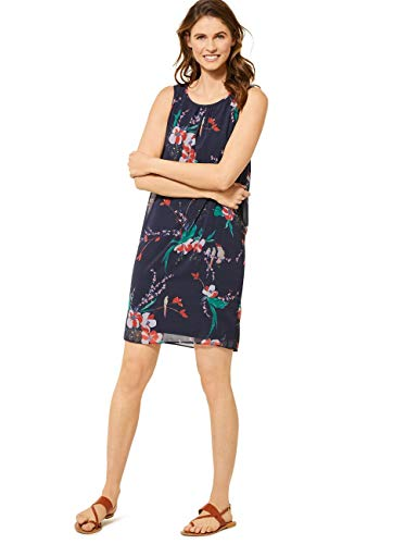 Cecil Damen 142623 Kleid, deep Blue, XX-Large