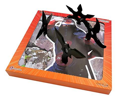 ETOILE DE NINJA SHURIKEN JAPONAIS avec CIBLE :Shuriken Mix (4) with target