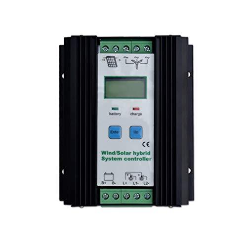 Controlador solar Regulador híbrido solar del viento 600W turbina de viento 400W regulador solar de la carga del panel 200W regulador automático de la batería 12V / 24V con la exhibición grande del LC