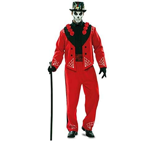 Disfraz de Novio del Da de los Muertos Rojo para hombre