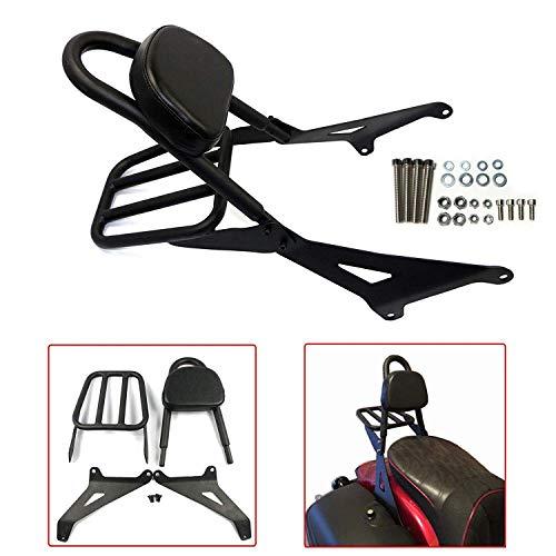 Black Detachable Backrest Sissy Bar with Luggage Rack For Yamaha XVS1300
