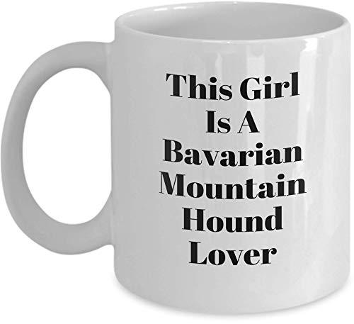 N\A Tazas de la Novedad para los Amantes de los Animales del Sabueso bávaro de montaña - Ideas de la Taza de café para los dueños de Mascotas Mujeres, Madres, Madres, Abuela, Esposa