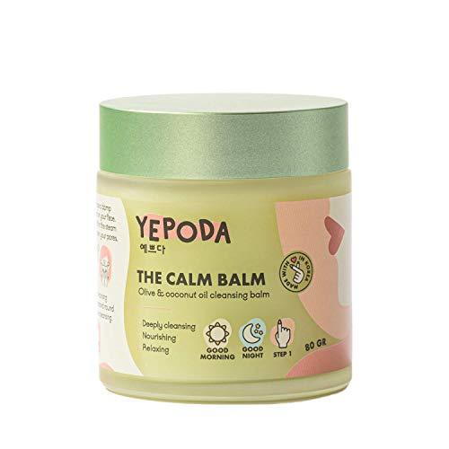 Yepoda Gesichtsreinigung Balsam - THE CALM BALM, Cleansing Balm mit Olivenöl & Kokosöl, Make-Up Entferner, Koreanische Kosmetik (80 Gramm)