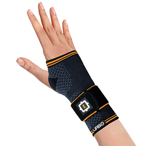 Urbo Wrist Brace with Compression Ergonomic Support for Carpal Tunnel Syndrome, Tendinosis, Nerve Damage, Ligament Tear, Repetitive Strain Injury (Size: L, Hand: R)