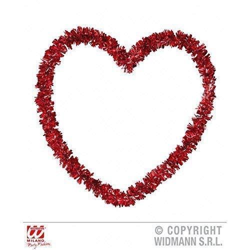 Lively Moments Coeur Saint-Valentin en Rouge Env. 27 X 27 cm / Lamettaherz/ Décoration/ Saint Valentin / Mariage