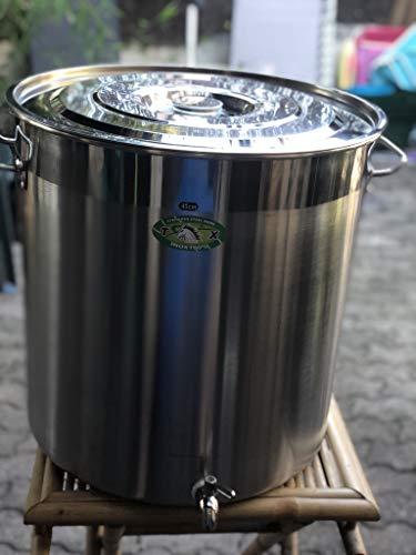 Cacerola con grifo de 70 litros, acero inoxidable, gran capacidad, ideal para cerveza