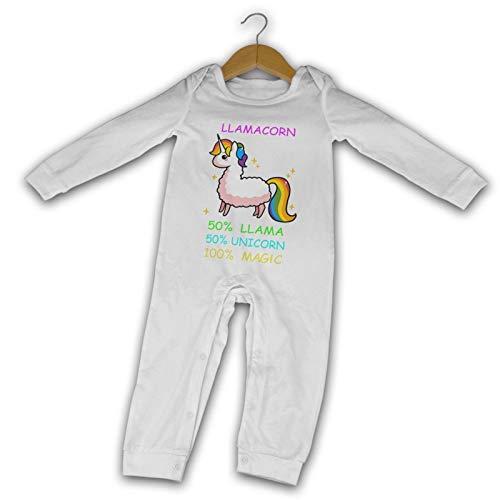 WushXiao Magic Llamacorn Long Comfort Baby Crawler schwarz Gr. 2 Jahre, weiß