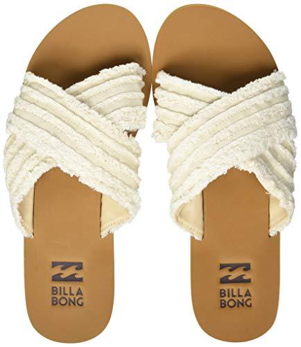 BILLABONG Women's Heeled Sandals, Beige, 9.5