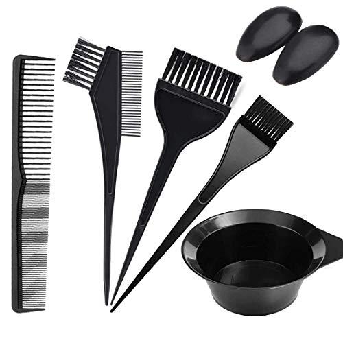 Hair Colouring Tools, KEAIDUO Hair Colour Brush and Bowl Set 6Pcs Hair Dye Kit Hairdressing Hair Mixing Bowl, Hair Dye Brush Comb for Home USE DIY Salon