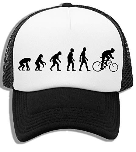 Evolución Bicicleta Sillín Gorra De Béisbol Unisex Niños Blanca Negra White Black Kids Baseball Cap