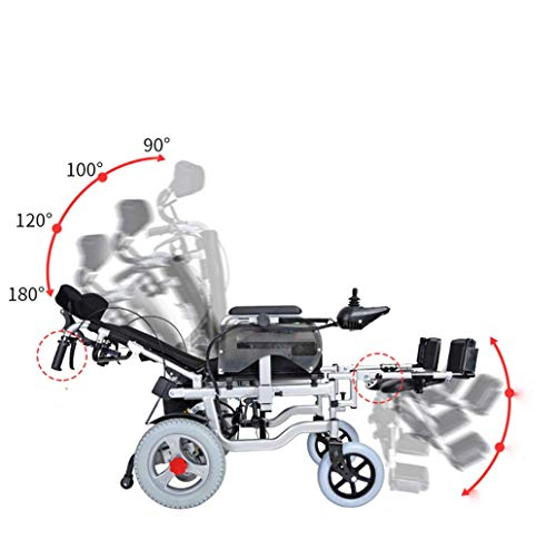 DONG Elektro-Rollstuhl Old Man Scooter Can Lie in Alten- Behinderte Off-Road Typ Rollstuhl elektrischen Aufzug Beinrückenlehne (schwarz)