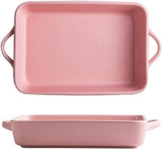 Porcelain Baking Dish, Rectangular Bakeware Baking Pan Ceramic Non-Stick Cake Pan Lasagna Pans Baking Pan with Double Hand...