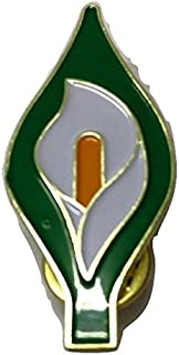 Large 40mm Easter Lily Enamel Pin Badge - Irish Republican Rebel 1916