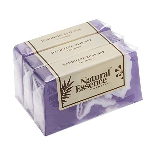 All Natural Soap Bar Organic Lavender Natural Vegan Lavender Soap Bars Bulk 3 Pack Set Premium Gift Handmade Soaps for Women Men