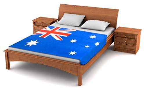 Fuzzy Flags TM Fleecedecke mit australischer Flagge, 203,2 x 127 cm, Übergröße