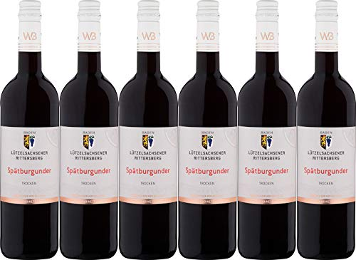 Winzer von Baden Spätburgunder Lützelsachsener Rittersberg Kabinett 2018 Trocken (6 x 0.75 l)