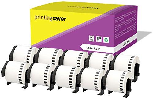 10 Rollen DK22205 DK-22205 62mm x 30,48m Endlos-Etiketten kompatibel für Brother P-Touch QL-500 QL-550 QL-560 QL-570 QL-700 QL-720NW QL-800 QL-810W QL-820NWB QL-1050 QL-1060N QL-1100 QL-1110NWB