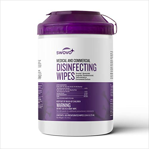 160 Count - Swovo Medical and Commercial Disinfecting Wipes (1 Pack)