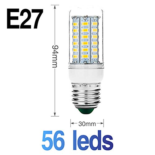 Smd Led-lamp Flexibele dubbele kop-lampvoet met LED maïskolf Ac85-265V Ac220V schakelaar EU Us -stekkerlamphouder E27 30 36 56 72 89Leds Lampen-E27_56Leds_Cold_White