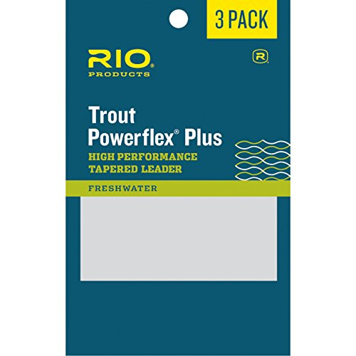 RIO Fly Fishing Power flex-Plus 9' 5X Fishing Leaders, Clear, Pack of...