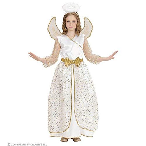lively moments Disfraz para Niños Ángel con Estrellas/Ángel Disfraz con alas & Aureola/Ángel Vestido para niños/Navidad Talla 158(11–13Años)