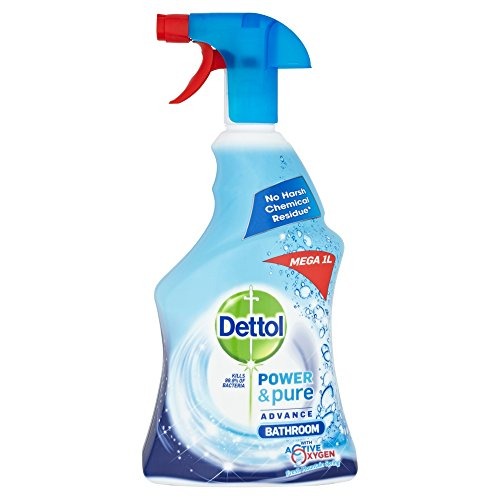 Dettol Power and Pure Bathroom Cleaner Spray, 1 L