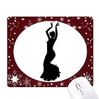 フォークダンスのダンサーのパフォーマンスアート オフィス用雪ゴムマウスパッド