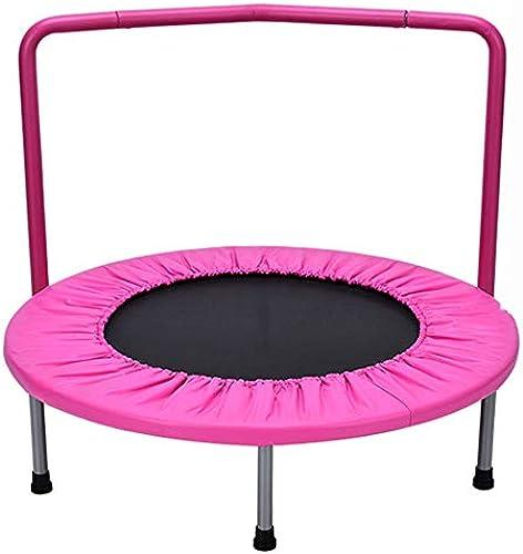 HANSHAN Gartentrampoline Trampolin, Mini-Trampolin Mit Armlehnen Fitness- übung 2 Farbe 36 × 9 × 30 Zoll (Farbe   Princess powder)
