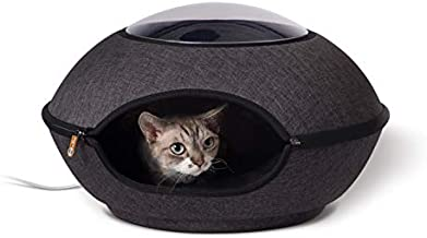 K&H PET PRODUCTS Thermo-Lookout Pod Heated Cat Bed, Gray, 4W, 22