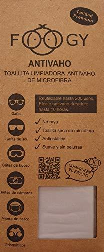 FOOGY Antibeschlag Microfaser Brillentuch | trockenes Reinigungs-Tuch | keine zusätzlichen Flüssigkeiten notwendig