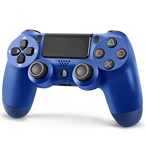 Roonboit PS4 Wireless Controller,Game Controller Joystick with 1200 mAh Battery/Vibration Turbo/Built-in Speaker/USB Cable/Mini LED Indicator for Playstation 4/Pro/Slim/PS3 Console