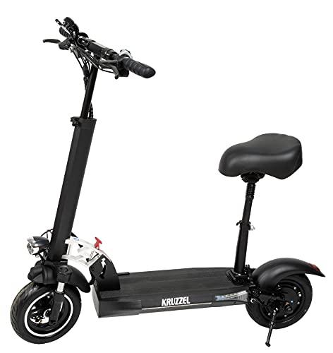 Kruzzel Elektroroller Elektro Scooter Faltbar Sattel bis zu 45 km/h 800 W 14893