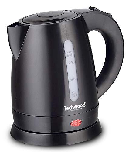 Techwood Wasserkocher, 1 l, Schwarz