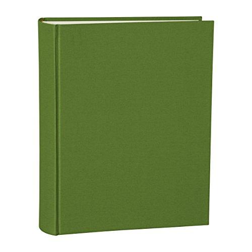 Semikolon Large Linen Hardcover Photo Album, 9.6 X 12 X 2 Inches, 130 Pages of Cream Mount Board, Irish (03208)