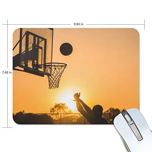 MONTOJ Basketball Mauspad Antirutsch-Mauspad Mauspad Mauspad Desktop Mauspad Laptop Mauspad Gaming Mauspad
