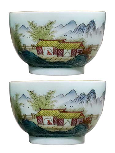 Fantastic Deal! Jingdezhen Master Porcelain Cup A Pair