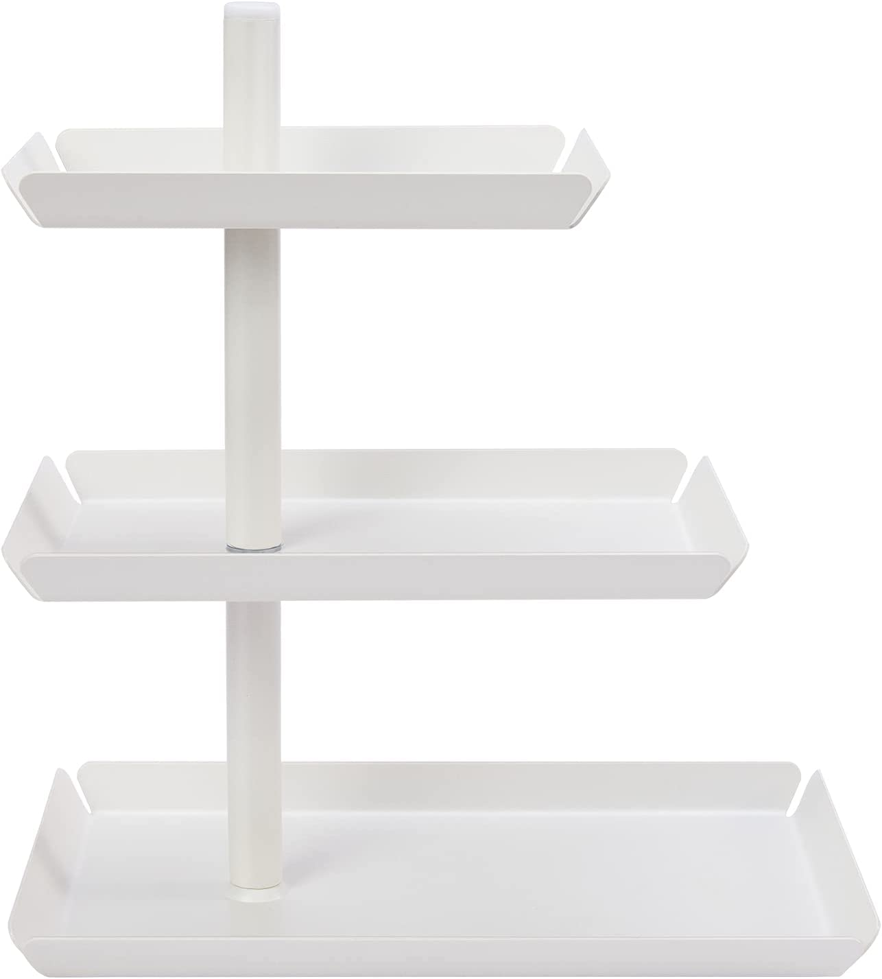 YOFRI 3-Tier Cupcake Stand, Metal Tiered Serving Tray, Cake Display Tower Holder, Food Dessert Fruit Snack Display Plate for Tea Party Decorations, Catering Supplies, Wedding, Birthday, Graduation