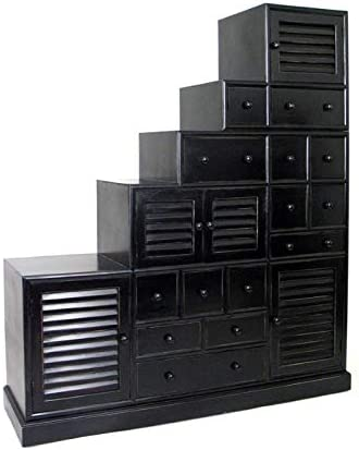 Pemberly SEAL limited product Row Step Cabinet in Black Antique NEW before selling