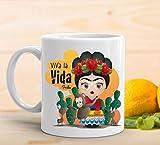 adaysusdetalles Taza Frida Taza Ceramica Desayuno Regalo Cumpleanos Sorpresa