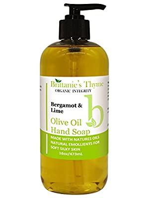 Organic Olive Oil Hand Soap, 16 oz - Made with Natural Luxurious Oils. Vegan & Gluten Free