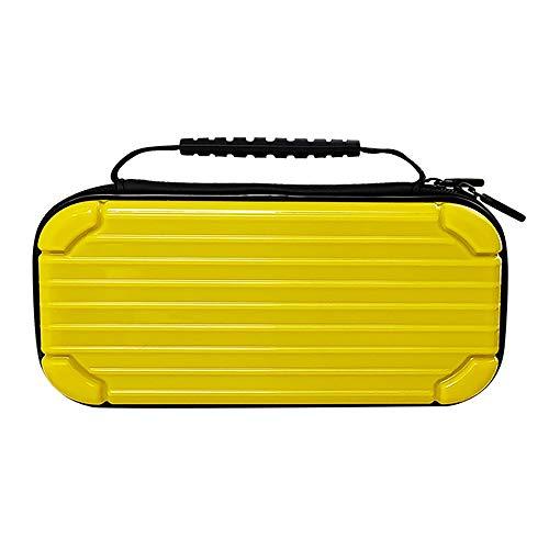 Saco de armazenamento TwiHill é adequado para saco de armazenamento de console Nintendo Switch bolsa de acessórios caixa de armazenamento EVA (Amarelo)
