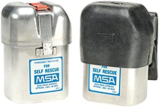 MSA 461100 One Size Fits Most Mouthbit Self-Rescuer W65 Escape Air Purifying Respirator, Holster and Rubber Boot