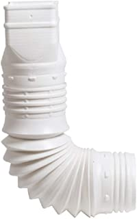 Flex-Drain 53227 Flexible Downspout Extension Adapter, 2 by 3 by 4-Inch, White