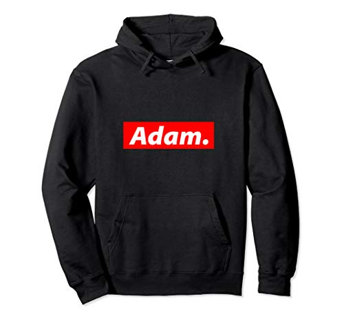 Adam Gift - Red Box Logo Personalized Name Gift For Adam Pullover Hoodie