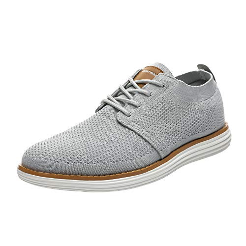 Bruno Marc Men's Mesh Sneakers Oxfords Lace-Up Lightweight Casual Walking Shoes Grey Size 11 M US Grand-01