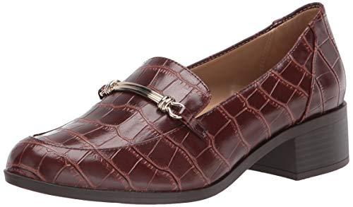 Naturalizer Women's Naples Loafer Flat, Brown Crocco, 6.5 Wide