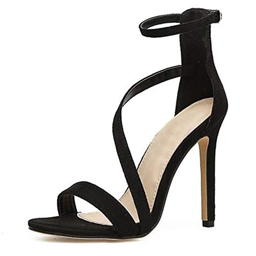 Mujeres Verano Abierto Toe Tacones Altos Fiesta Elegante Finos Tacones de la Tira del Tobillo Botines de Vestir Gladiador Zapatos de Boda Stilettos Sandalias