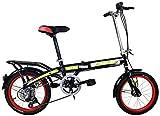 Nologo Bicicleta De los niños Bicicleta Plegable 16 Hombres Adultos rodador Velocidad Pulgadas y Mujeres de la Bicicleta